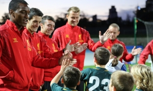 LFC players meet Aussie kids at City of Melbourne football clinic