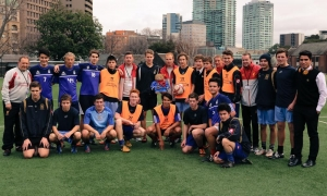 Rush and LFC Foundation visit Melbourne Grammar School