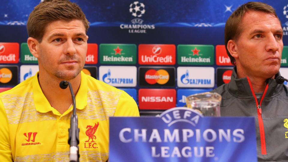 Gerrard meets press ahead of Madrid tie