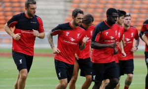 Liverpool train at Shah Alam Stadium