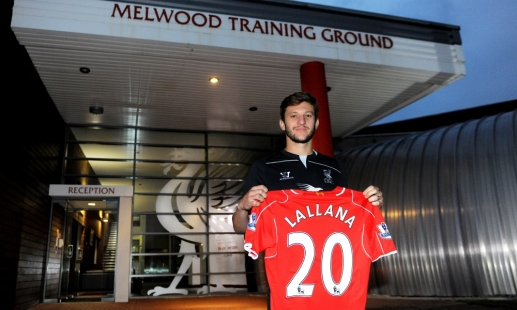 Lallana squad number confirmed