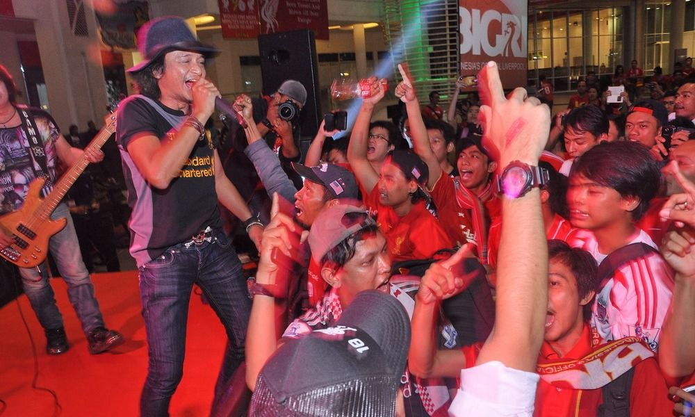 Kemeriahan nonton bareng derby Merseyside di Jakarta