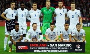 ภาพการแข่งขันทีมชาติอังกฤษพบซาน มาริโน่
