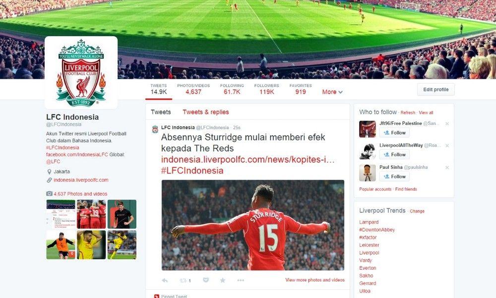 Nama akun twitter LFC Indonesia berubah