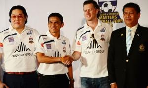 ภาพสตีฟ แม็คมานามาน ร่วมแถลงข่าวการแข่งขัน Country Group Thailand & Liverpool Masters Football Tour 2014
