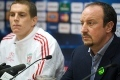 Rafa and Agger pre-Lyon press