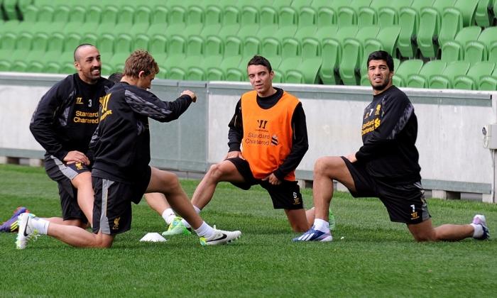 Primer entrenamiento del LFC en Australia